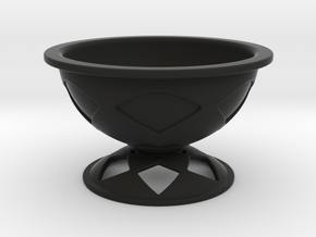 Font Hill Crop Circle Bowl Lowered Foot in Black Strong & Flexible