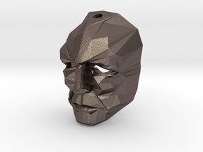 Jor-El 1/6 Crystal Mask keychain / Ear Ring Superm in Polished Bronzed Silver Steel