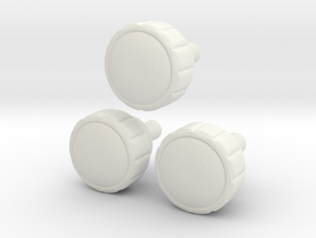 Radio Knobs in White Strong & Flexible