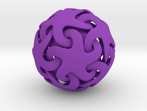 Starfish ball in Purple Strong & Flexible Polished