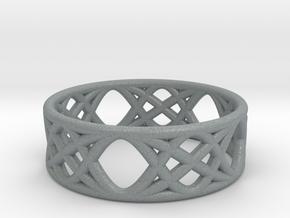 Sine Ring Flat in Polished Metallic Plastic