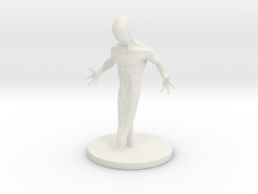1 Inch Embryonic Mutant in White Natural Versatile Plastic