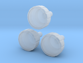 Radio Knobs in Smooth Fine Detail Plastic