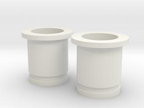 Circular Plug Hollow - 0 Gauge in White Natural Versatile Plastic