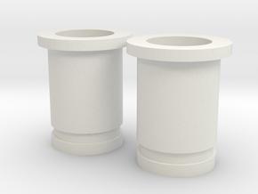 Circular Plug Hollow - 2 Gauge in White Natural Versatile Plastic