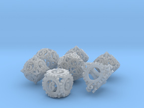 Steampunk Gear Dice Set in Smooth Fine Detail Plastic