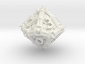 Dragon d10 in White Natural Versatile Plastic