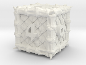 Dragon d6 in White Natural Versatile Plastic
