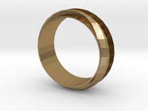 Finger Ring in Polished Gold Steel