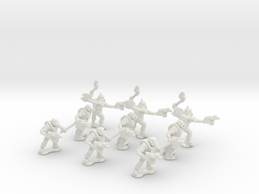 15mm Greenskin Grunts (x9) in White Natural Versatile Plastic