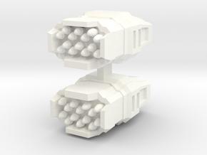 Missile Launcher 2 in White Processed Versatile Plastic