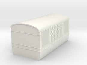 OO9 AW railcar Short central power car  in White Natural Versatile Plastic