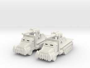 15mm Greenskin 'owitzer Wagons (x2) in White Natural Versatile Plastic