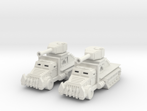 15mm Greenskin Gun Wagons (x2) in White Natural Versatile Plastic