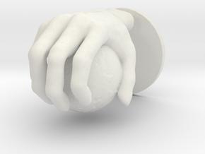 Hand globe Large in White Natural Versatile Plastic