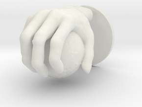 Hand globe Medium in White Natural Versatile Plastic