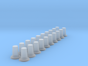 Short Posts (x20) in Smooth Fine Detail Plastic
