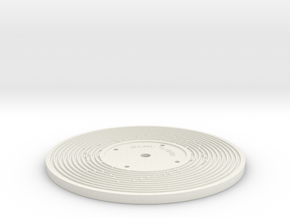 Double sided - Fisher Price record (5mm) in White Natural Versatile Plastic