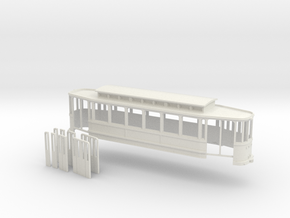 Chassis Beiwagen 6 Fensterwagen Rheinbahn in White Strong & Flexible