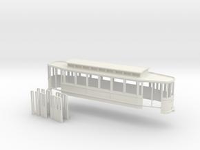 Chassis Beiwagen 6 Fensterwagen Rheinbahn in White Strong & Flexible