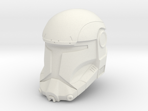 Republic Commando Helmet in White Natural Versatile Plastic