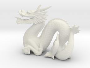 dragon in White Natural Versatile Plastic
