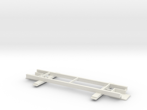 On30 14ft 2-truck underframe in White Natural Versatile Plastic