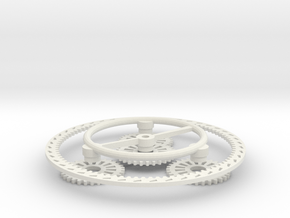 Planetary Gear Set in White Natural Versatile Plastic