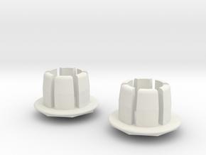 Bar Ends in White Natural Versatile Plastic