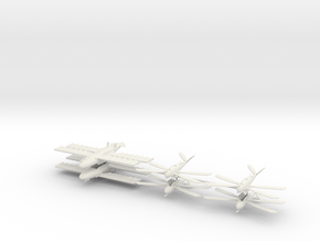 UK Ornithopter Fleet (6 ships) 6mm in White Strong & Flexible