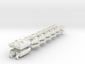 UK Ground Support Fleet (28 ships) 6mm in White Natural Versatile Plastic