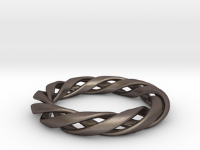 Toroid Spiral (3-strand, 1-piece, 2.0mm thickness) in Stainless Steel