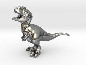 Allosaurus chubbie krentz 1 in Polished Silver
