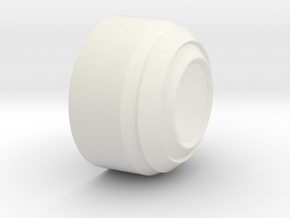 Daft Punk Thomas Electroma Style Ear 3.125in in White Natural Versatile Plastic
