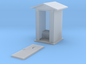 HO-Scale Peaked Roof Outhouse in Frosted Ultra Detail