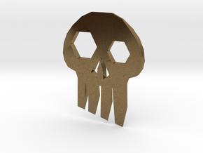 ''Skull'' Keychain / Pendant Multitool in Natural Bronze
