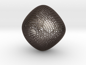 Chandelier (round honeycomb) in Polished Bronzed Silver Steel