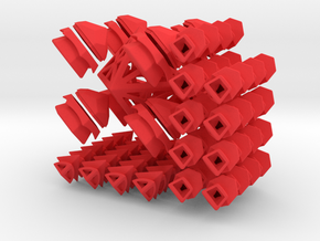 Fractured Cube Puzzle in Red Strong & Flexible Polished