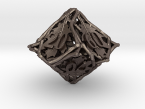 Botanical Decader Die10 (Oak) in Polished Bronzed Silver Steel