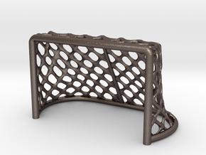 Hockey Net - 28mm scale in Polished Bronzed Silver Steel