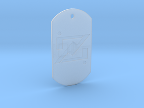 zod kandorian dog tag double sided in Smooth Fine Detail Plastic