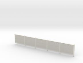 Beton-Schallschutzwand 5 Elemente in White Strong & Flexible