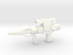 5mm Sideswipe Photon Laser (Action Master Weapon) in White Strong & Flexible Polished