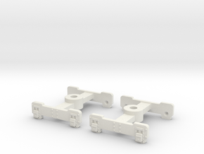 HOn3 Fox trucks  in White Natural Versatile Plastic