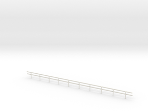 N-Scale Wood Guard Rail in White Natural Versatile Plastic