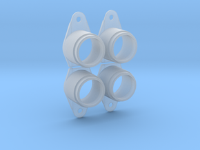 Pinball Button Housing (Cut-Off) #B-21018 (4 qty)  in Smooth Fine Detail Plastic