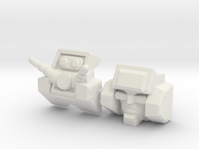 Junkion homage I-ROC For Deluxe TF Gen Wreck R in White Natural Versatile Plastic