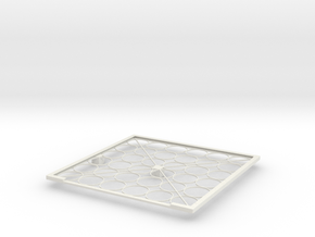 Solar panel frame in White Natural Versatile Plastic