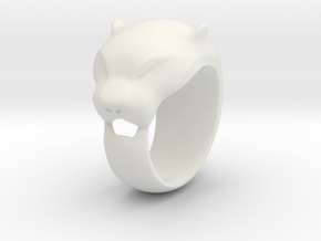 Panther ring 200% in White Natural Versatile Plastic