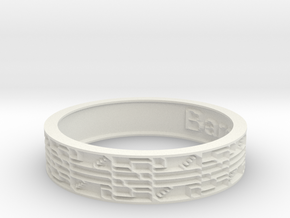 by kelecrea, engraved: Barclay in White Natural Versatile Plastic